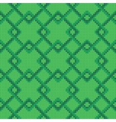 Cross stitch geometric pattern vector