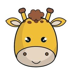Cute giraffe animal kawaii style vector