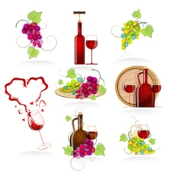 Design elements of the icon wines vector image