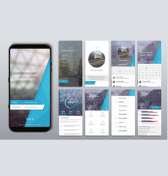 design of the mobile application ui ux a set vector image