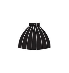 fashion skirt black concept icon fashion vector image