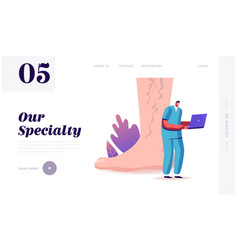 Feet health care podiatry landing page template vector