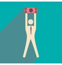 Flat design modern icon stick vector