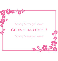 Floral frame of cherry blossom vector