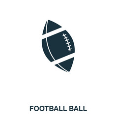 football ball icon premium style icon design ui vector image