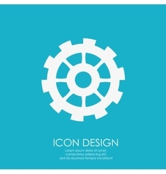 Gear icon design vector image vector image