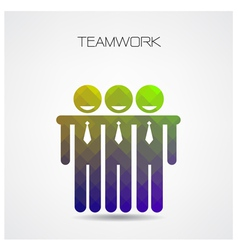 Geometric teamwork concept partnership vector