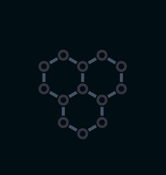 graphene icon atomic carbon structure vector image