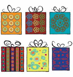 grunge assorted present gifts vector image