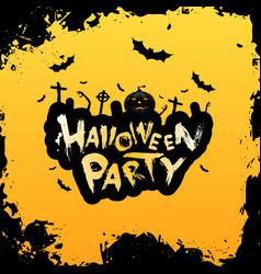 grungy halloween party poster vector image