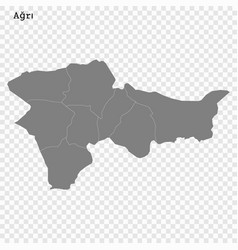 High quality map is a province turkey vector