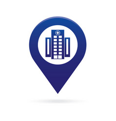 Hospital map pointer icon marker gps location vector