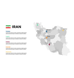 iran map infographic template slide vector image