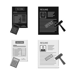 Isolated object of form and document logo vector