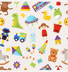 kid toys cartoon cute graphic vector image