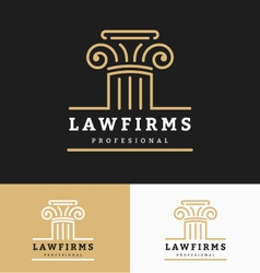 Law firms logo template vector image