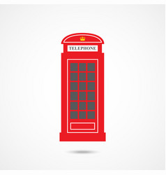 london telephone box vector image