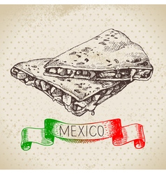 mexican traditional food background vector image