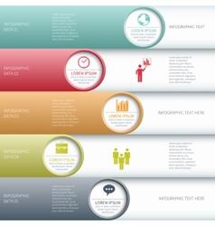 Modern business infographics options banner vector