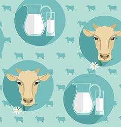 Modern flat design seamless of milk vector
