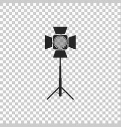 Movie spotlight icon on transparent background vector