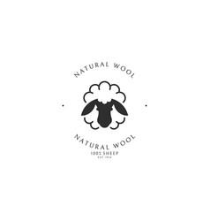 natural wool vector image