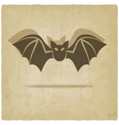 old background with bat vector image