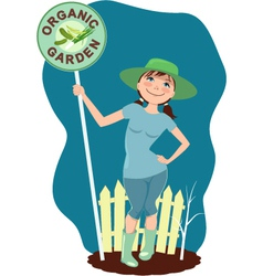 Organic garden vector