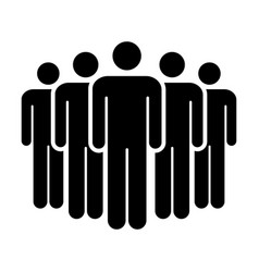 People icon group of men team symbol for business vector