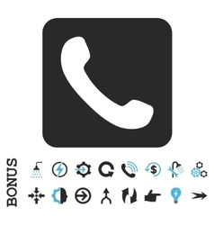 Phone Flat Icon With Bonus vector image