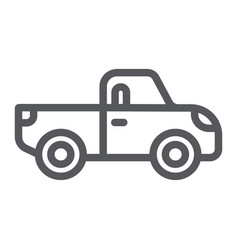 pickup line icon transport and automobile truck vector image