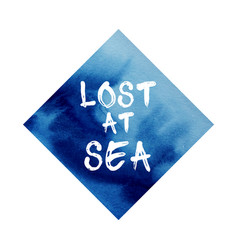 poster about sea blue abstract watercolor vector image