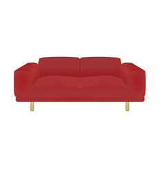 red sofa bed vector image