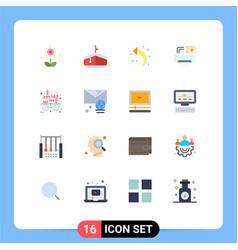 Set 16 modern ui icons symbols signs vector