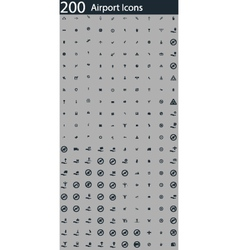 Set of 200 airport icons vector