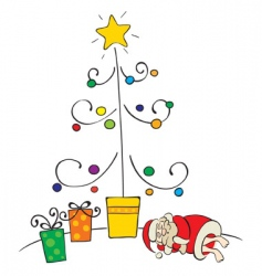 sleeping santa vector image