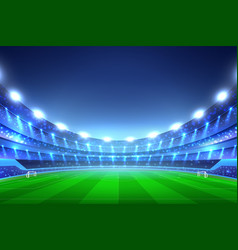 Soccer stadium background vector