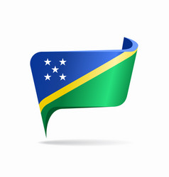 Solomon islands flag map pointer layout vector