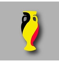 sport competition cup Blgium participant vector image
