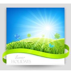Summer holiday banner vector image vector image