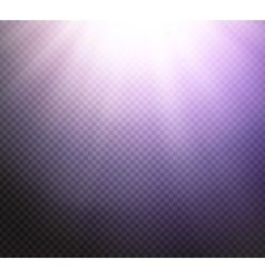 Sunlight rays transparent light effect vector image