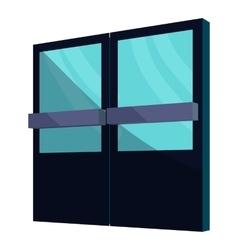 Supermarket door icon cartoon style vector image