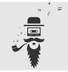 Symbol old music vector