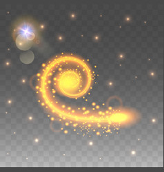 the lighting effect is a swirling spiral vector image