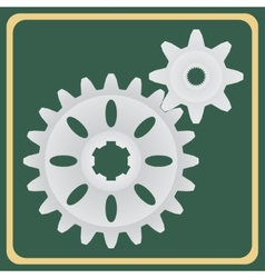 The pair of gears vector image