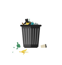 trash can full vector image