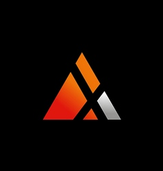 triangle symbol letter X logo vector image