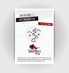 valentines day love poster template place for vector image