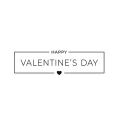 valentines day simple banner border frame vector image