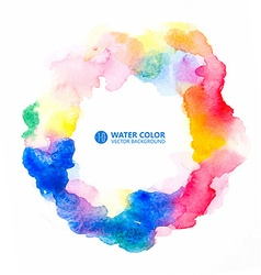 Watercolor painting background vector